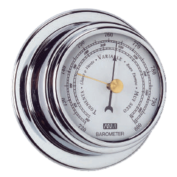 Aqua Marine Barometer 70mm Face Chrome Finish