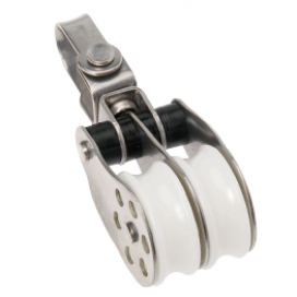 Barton Stainless Block Double Swivel 30mm