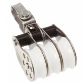 Barton Stainless Block Triple Swivel 30mm