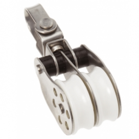 Barton Stainless Ball Bearing Block Double - Swivel