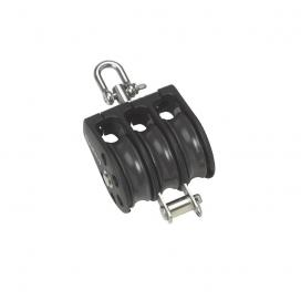 Barton Size 1 Plain Block Triple Swivel & Becket