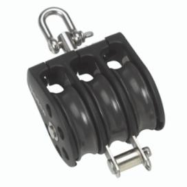 Barton Size 2 Ball Bearing Block Triple with Swivel & Becket