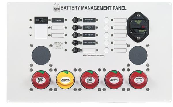 BEP 800-ms2 Battery Management Panel Twin Eng 10-12m (800-MS2)