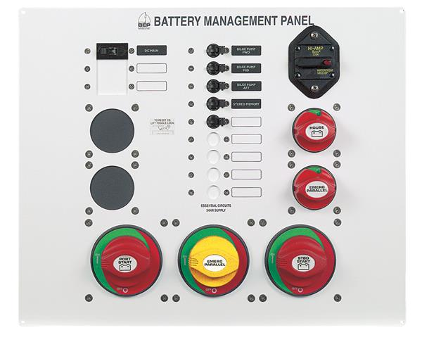 BEP 800-ms3 Battery Management Panel Twin Eng 12-16m (800-MS3)