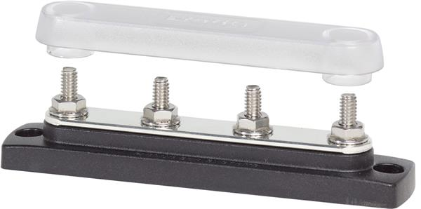 Blue Sea Common Busbar 4x1/4inch Stud + Cover