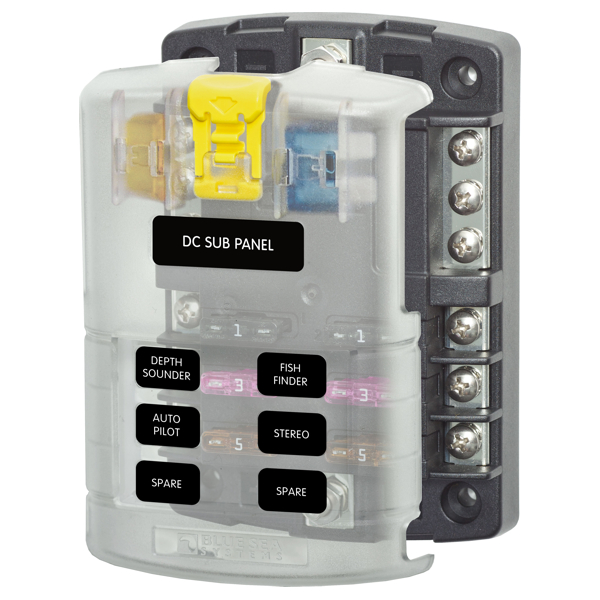 Blue Sea Fuse Block Ato 6 Circuit With Guard Bulk Buy Pack of 10