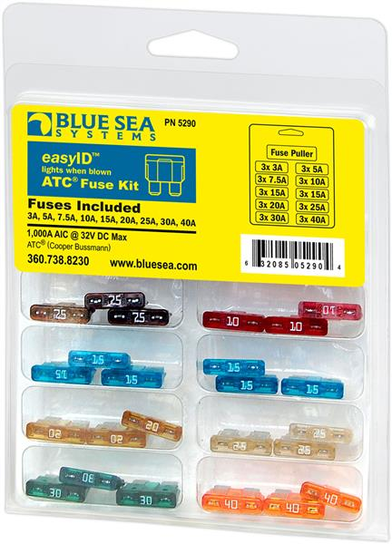Blue Sea Fuse Atc Easy Id 31 Piece Kit