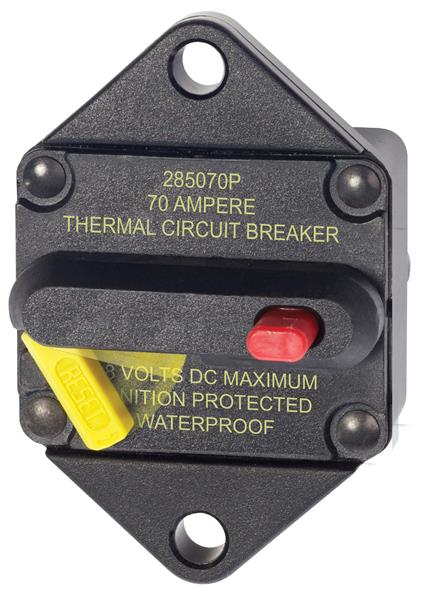 Blue Sea 285  Panel Mount Circuit Breaker 70a