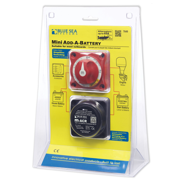 BlueSea Mini Add-A-Battery Kit - 65A