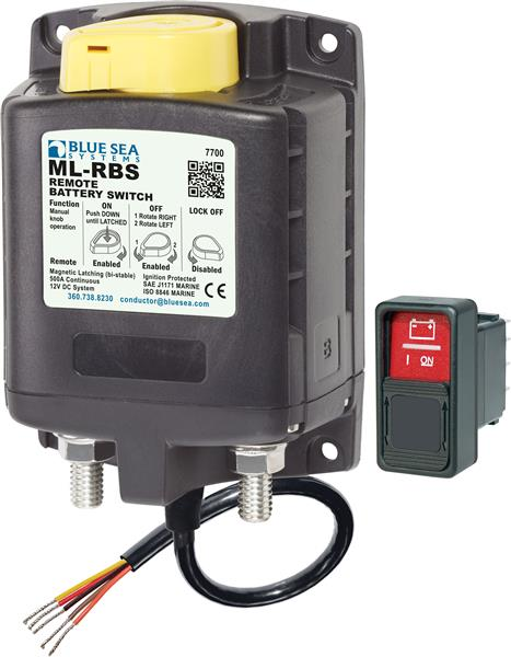 Blue Sea Ml Solenoid Switch 12v C/w O/ride