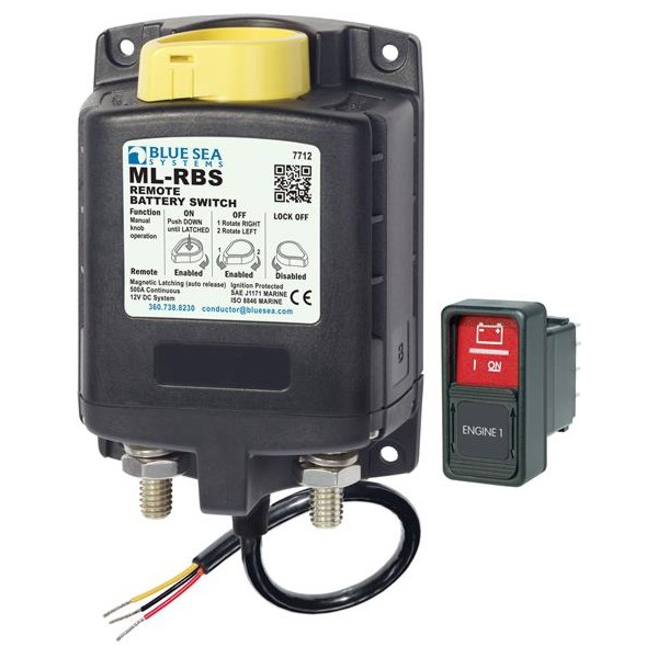 Blue Sea ML-RBS Remote Battery Switch with Manual Control Auto-Release - 12V