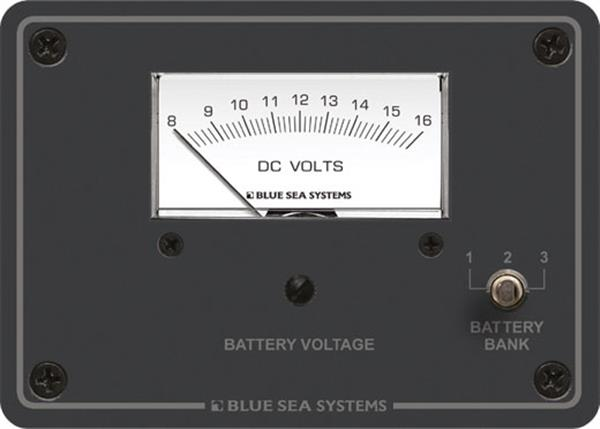 Blue Sea Volt Test Panel 3 Bank 12vdc
