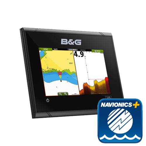 B&G Vulcan5 FS 5-Inch Multi-Touch Chartplotter with Built In Forward Looking Sonar With EMEA Navionics Plus Chart - No Transducer