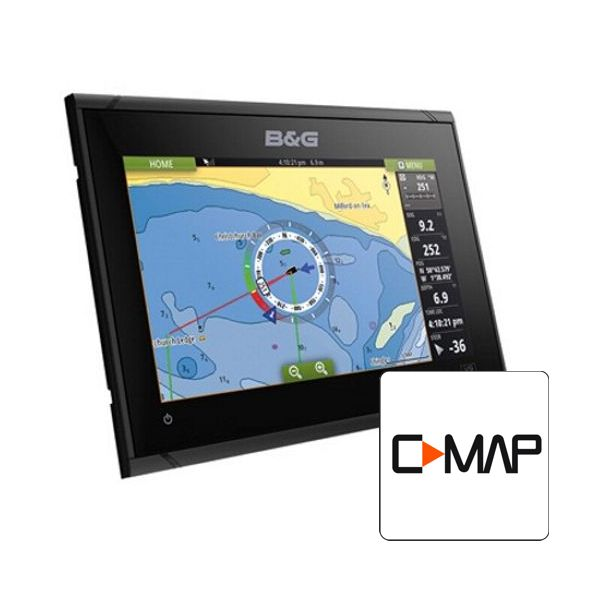 B&G Vulcan 9 FS 9 Inch Multi-Touch Plotter with Built In Forward Looking Sonar Includes South Europe C-Map Chart