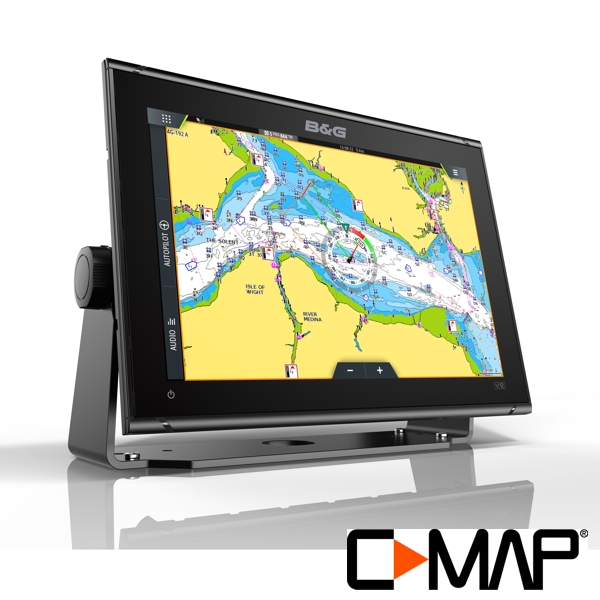 B&G Vulcan 12R 12 Inch Display with Radar Compatibility - No Transducer - With C-Map MAX-N Charts Europe (South)
