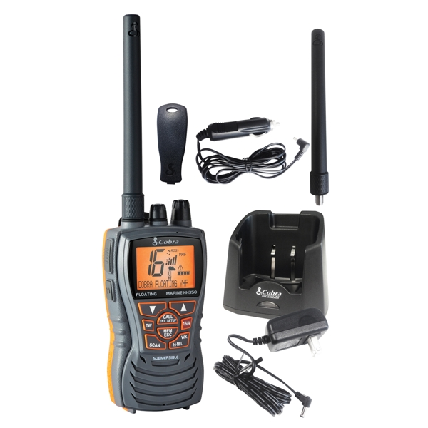 Cobra HH350 Floating Handheld VHF Marine Radio