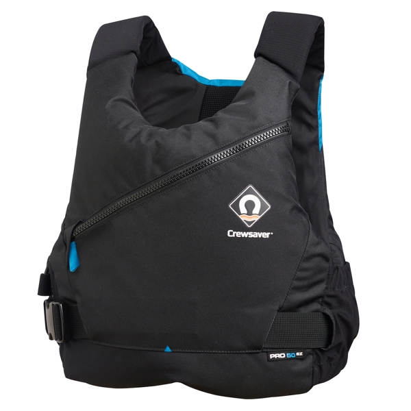 Crewsaver PRO 50N SZ Side Zip Buoyancy Aid in Black/Blue - M/L