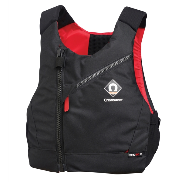 Crewsaver PRO 50N CZ Central Zip Buoyancy Aid in Black/Red - S/M