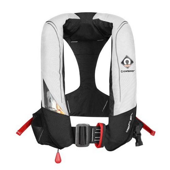 Crewsaver Crewfit 180N Pro - Automatic with Harness - White/Red with Internal Light
