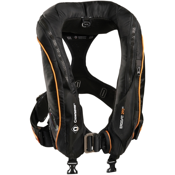 Crewsaver Ergofit 290N Ocean - Automatic With Harness - Light & Hood - Black