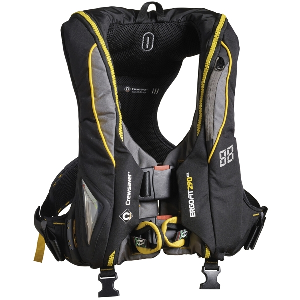 Crewsaver Ergofit 290N Extreme - Automatic With Harness - Light & Hood - Black