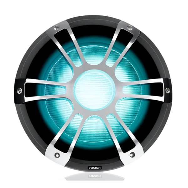Fusion 12 Inch 1400W Sports Chrome Subwoofer with CRGBW LED Lighting