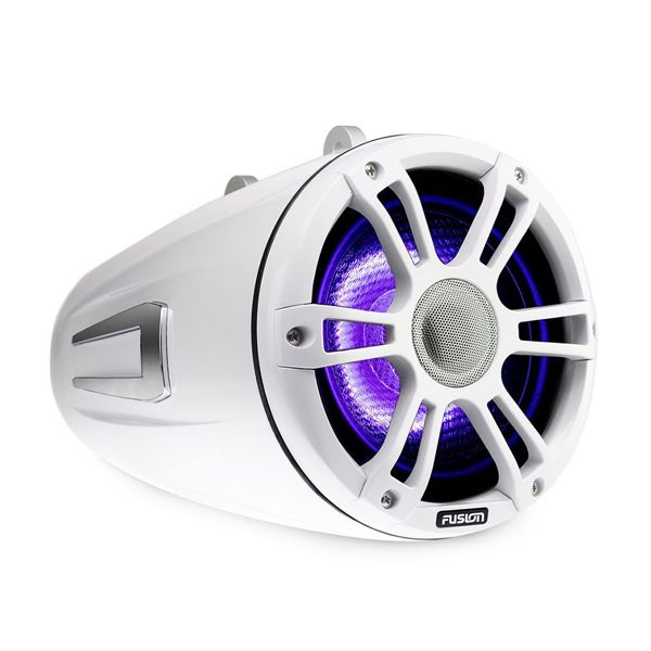 Fusion 280W 7.7 Inch Signature Wake Tower Speakers - Sports White