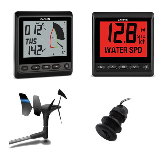 Garmin Wireless gWind Plus Depth & Speed Instrument Pack (52) Inc GNX20 and GNX Wind