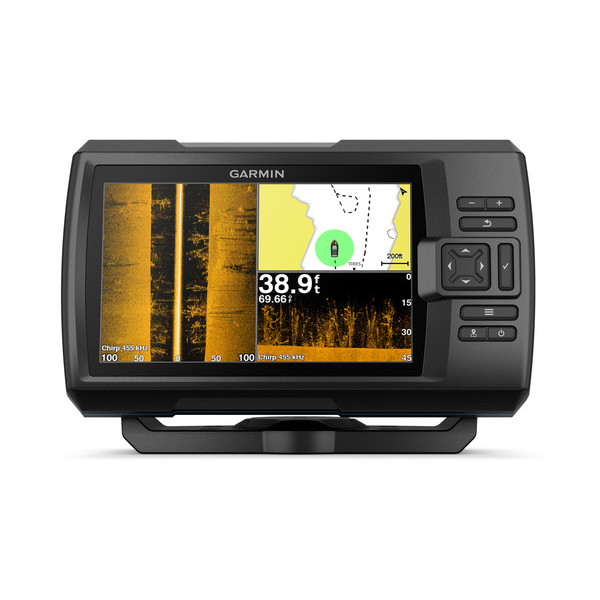 Garmin Striker PLUS 7sv Fishfinder with ClearVu & SideVu TM Transducer (GT52HW-TM)