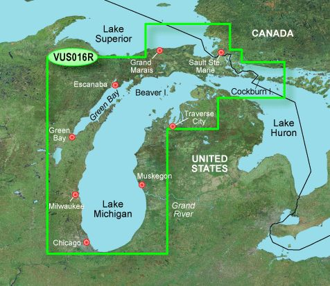 Garmin G3 Vision Regular - Vus016r - Lake Michigan