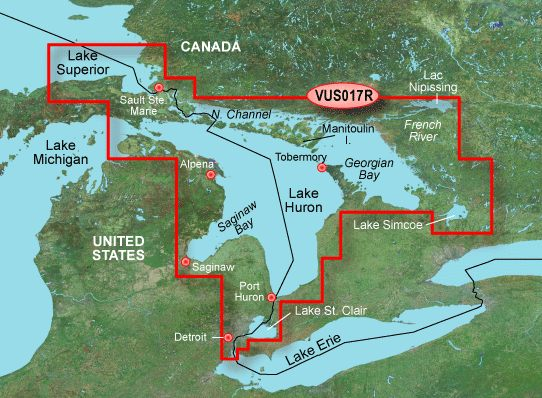 Garmin G3 Vision Regular - Vus017r - Lake Huron - Lake St. Clair