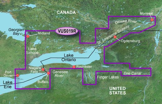 Garmin G3 Vision Regular - Vus019r - Lake Ontario To Montreal