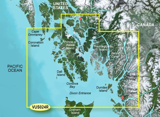 Garmin G3 Vision Regular - Vus024r - Wrangell To Dixon Entrance