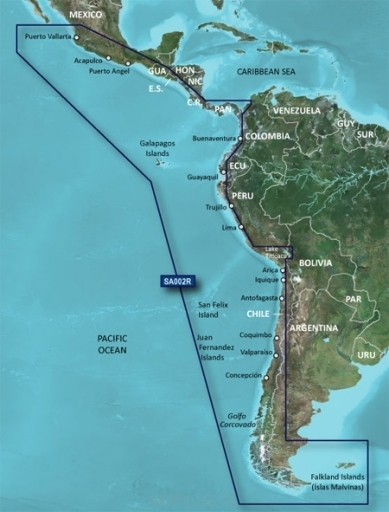 Garmin G3 - Reg Sd - Hxsa002r - South America West Coast
