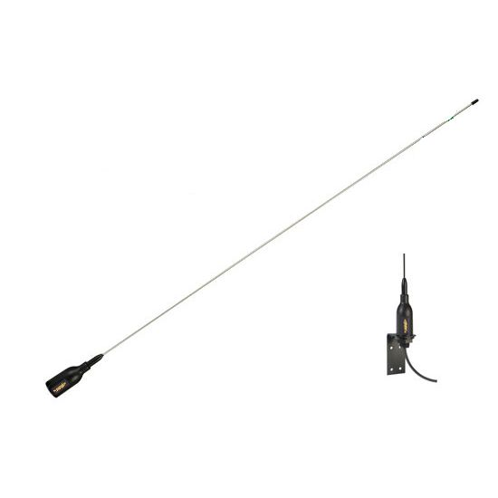 Glomex SuperGain Crow VHF Antenna Stainless Steel Whip