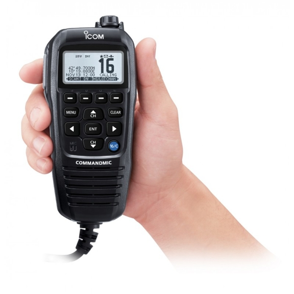 Icom HM-229B Command Mic For M605 - Black (Requires OPC2384)