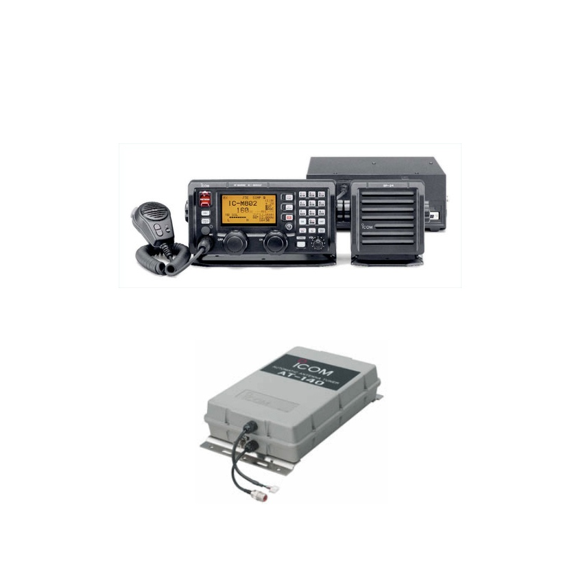 Icom M802 Ssb Plus Atu 141  Bundle Pack Not Uk Appr
