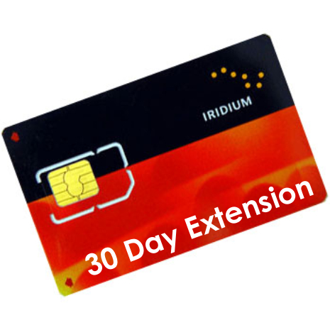 Iridium Prepaid 30 Days Extension Voucher