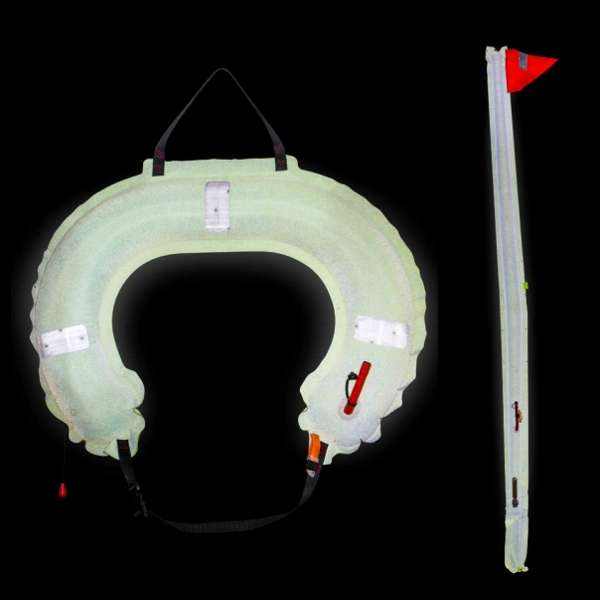 Jon Buoy Glo Lite Dan Buoy And Horseshoe Combination With Light in White Case