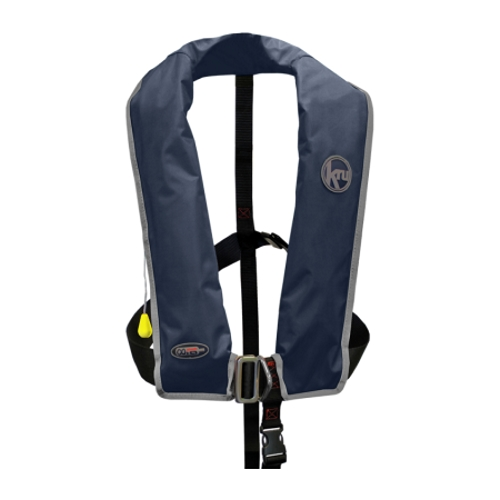Kru XF Lifejacket - Manual & Harness - Navy