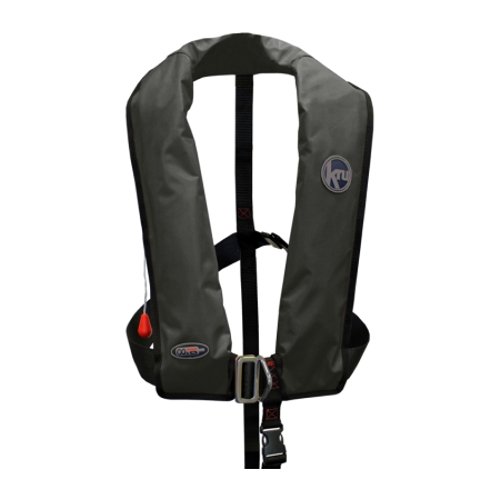 Kru XF Lifejacket - Manual & Harness - Black
