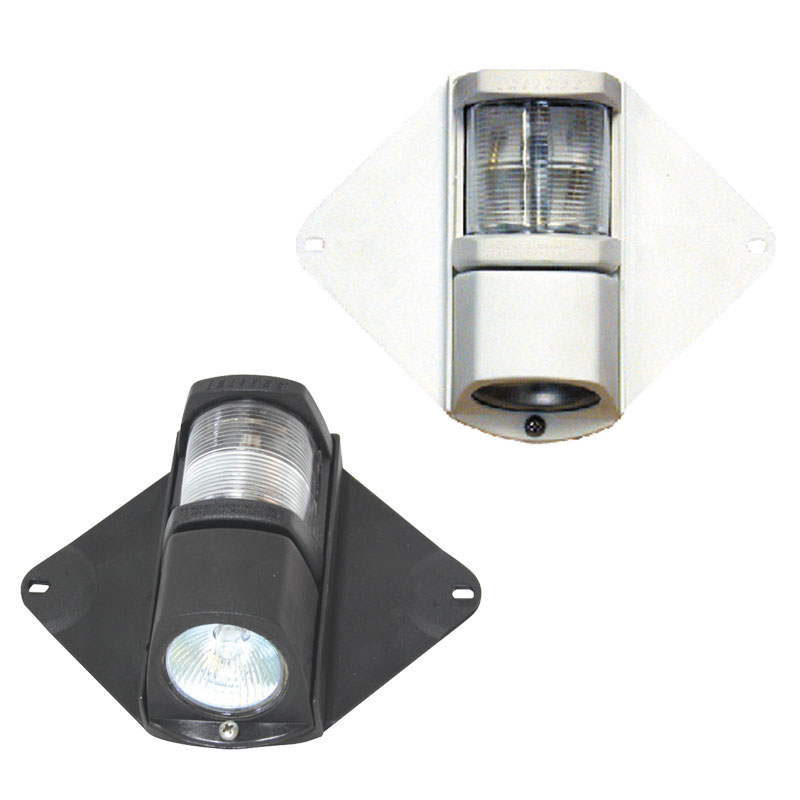 Classic 12 Masthead Light & Deck Light 225° With Black Housing