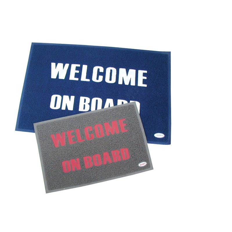 Welcome Mat With Backing. Pvc - Blue - 40 X 60cm