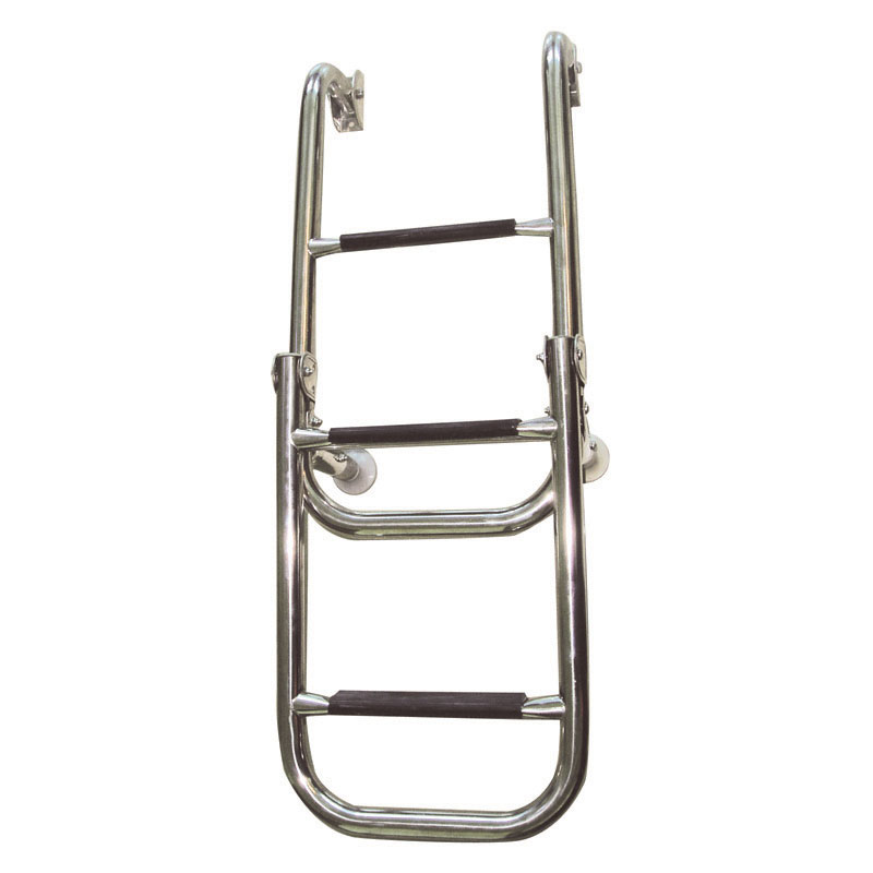Folding Ladder. 2+2 Steps. Inox 316. 280x1060mm