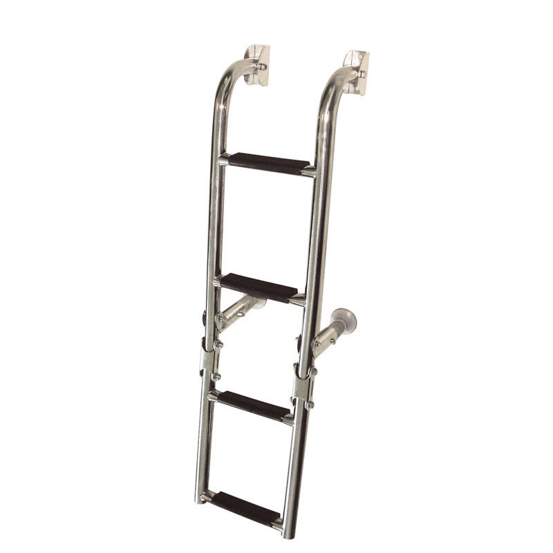 Folding Ladder. 2+2 Steps. Inox 316. 180x760mm
