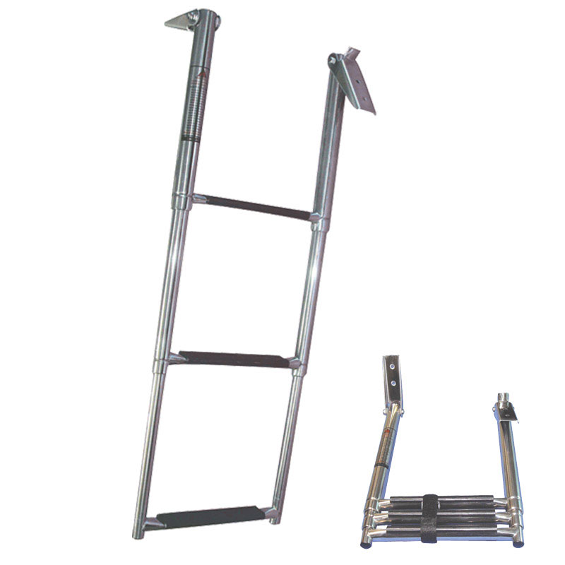 Telescopic Ladder. 3 Steps. Inox 316. 330x860mm