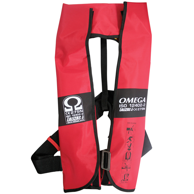 """omega Infl.lifejacket.auto.adult.290n,iso 12402-2,w/harness"""