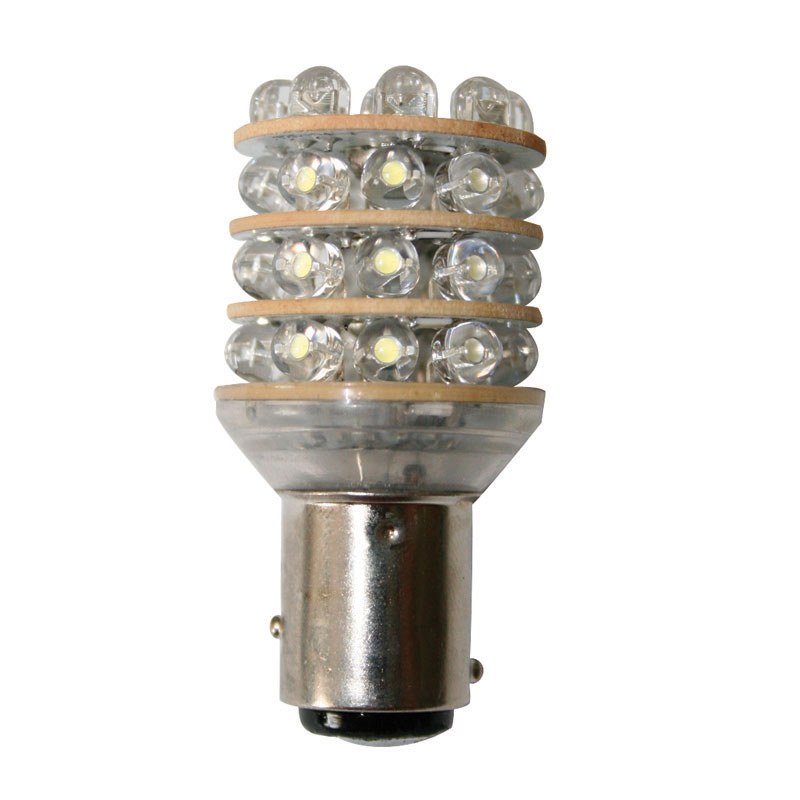 Bulb 12v - LED. T25 Bay15D - Cool White - 36 LEDs