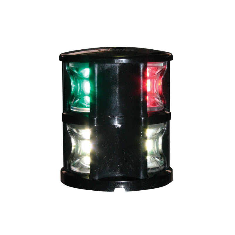 Fos Led 12 Tricolor & Anchor Light With Black Housing
