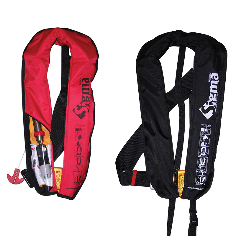 """sigma Infl.lifejacket.auto.adult.170n,iso 12402-3,w/d-ring & Clip Crotch Strap"""